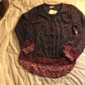 NWT, lucky brand top.